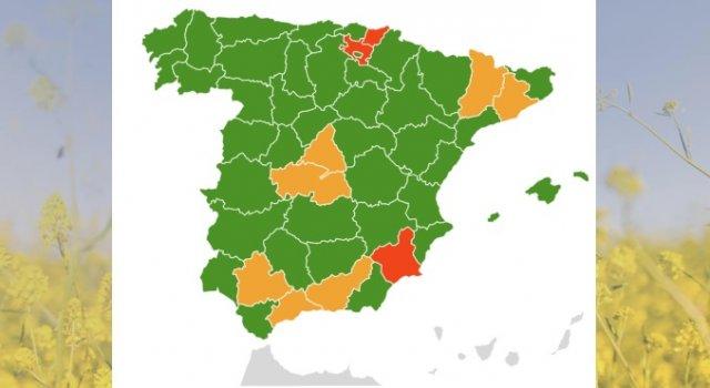 mapa alergias en espana primavera 2018