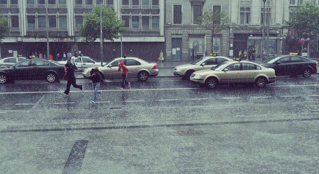 lluvia y contaminación