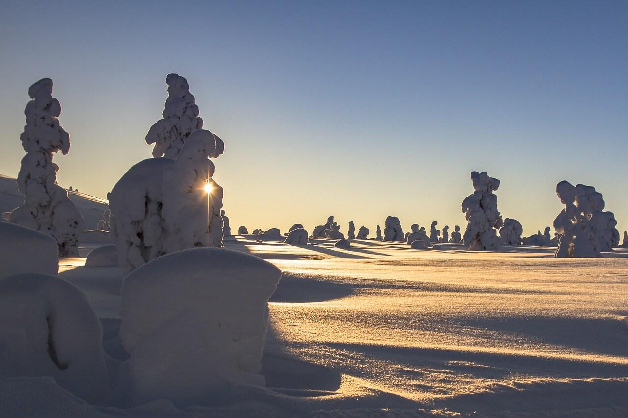 finlandia en invierno nieve
