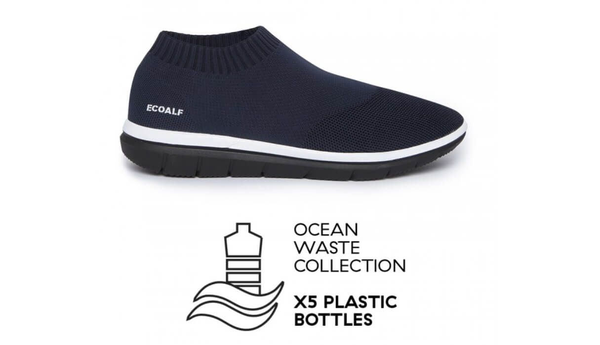 ropa sostenible zapatillas plastico