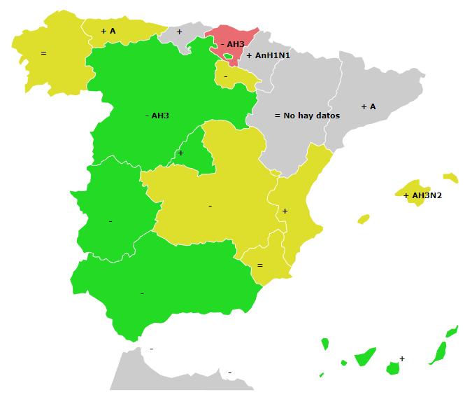 mapa de gripe enero
