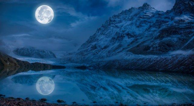 luna llena de febrero luna de la nieve