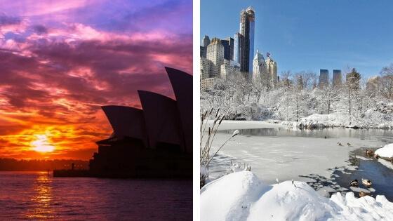 calor australia frio estados unidos