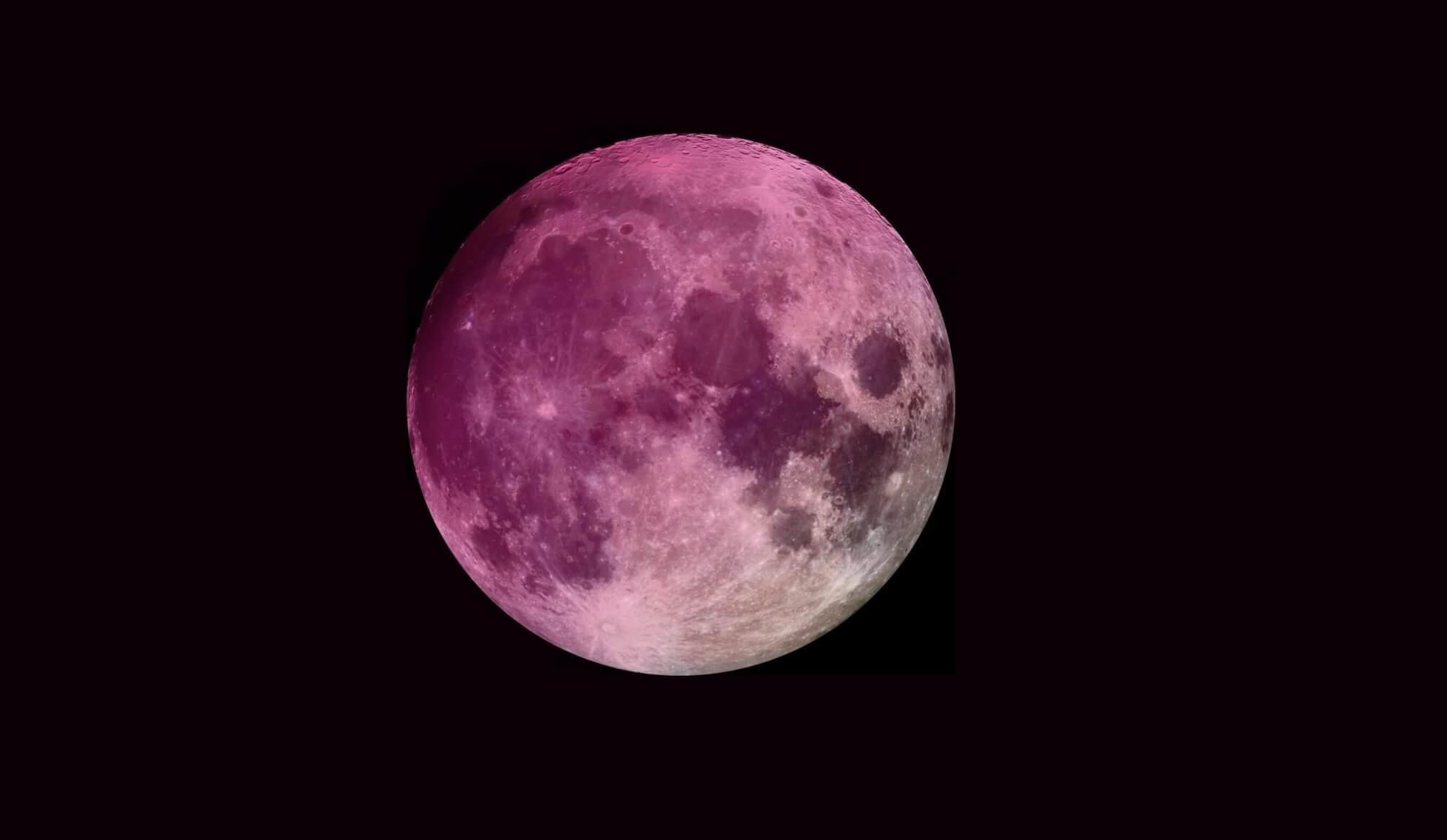Resultado de imagen de luna llena de abril 2019