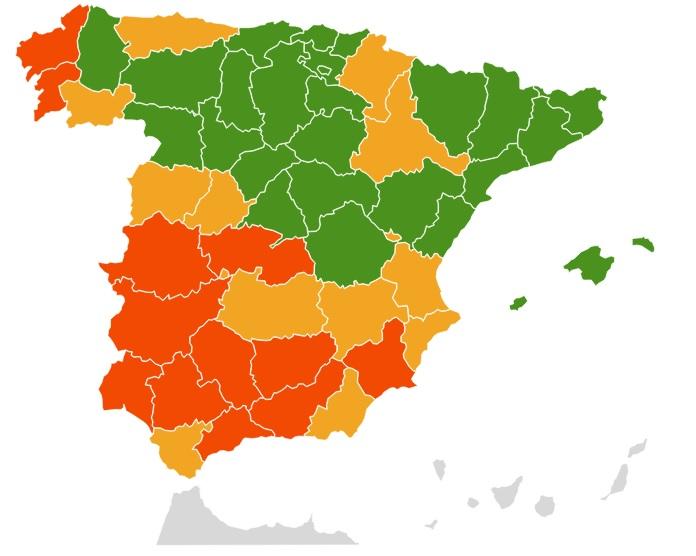Polen en primavera en España