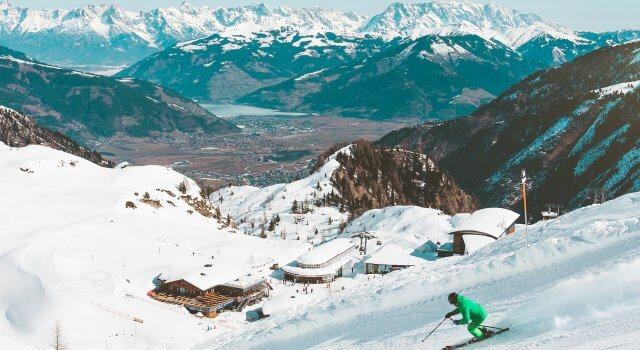 esquiadores nieve estaciones de esqui