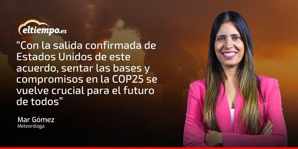 cop 25 meteorologa mar gomez eltiempo.es