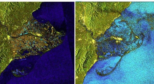 Imágenes del delta del Ebro captadas por satélites (Sentinel Hub)