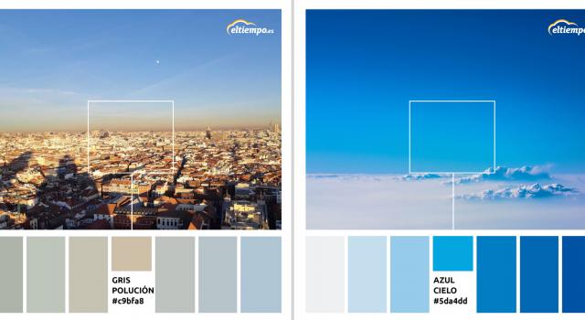 colores del planeta cielo con y sin contaminacion