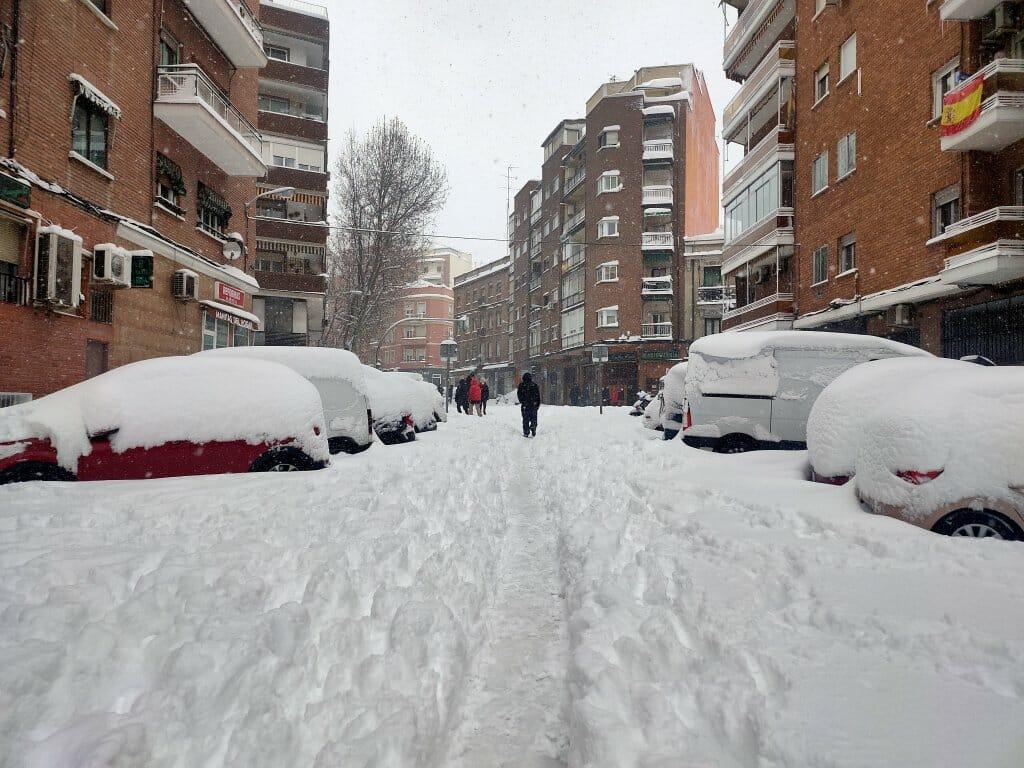 filomena borrasca madrid nieve 9 enero 2021