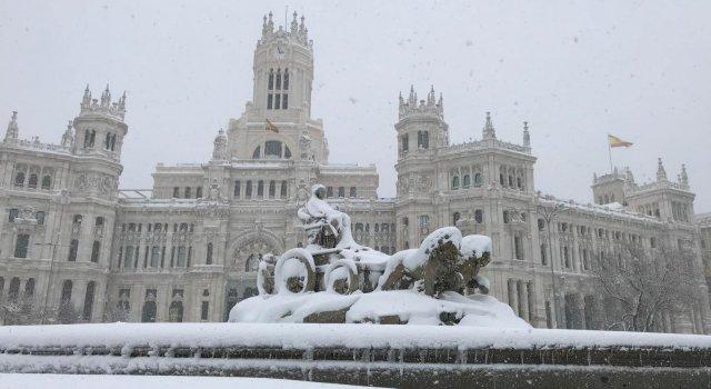 filomena nevada madrid nieve cibeles