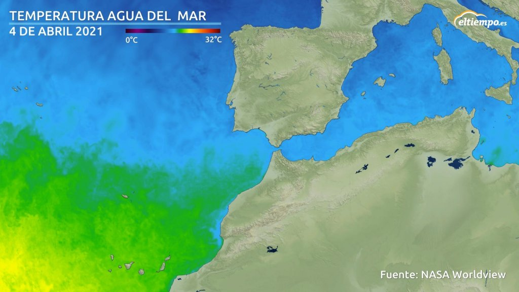 temperatura agua del mar en abril