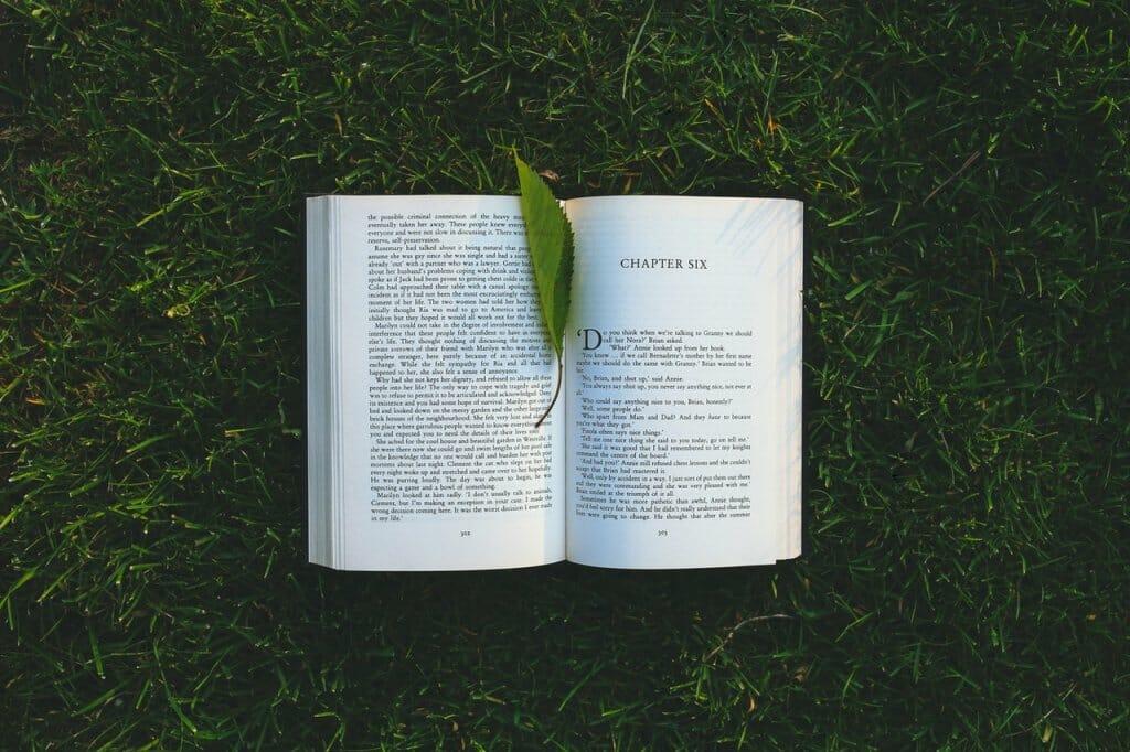 libro sobre césped, día del libro