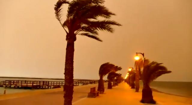 lluvia de barro españa mar menor murcia