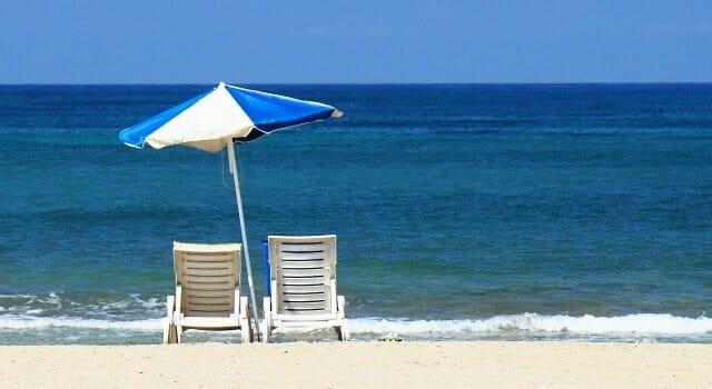 playa radiación ultravioleta