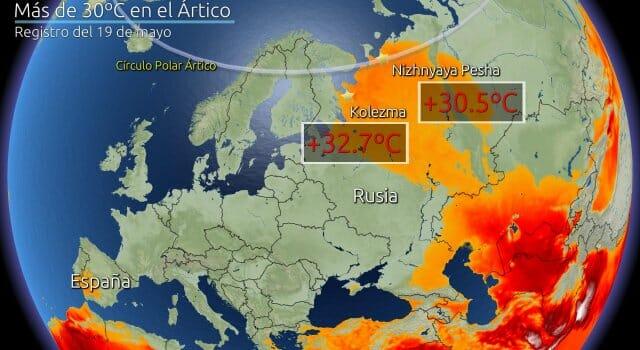 temperaturas altas Ártico