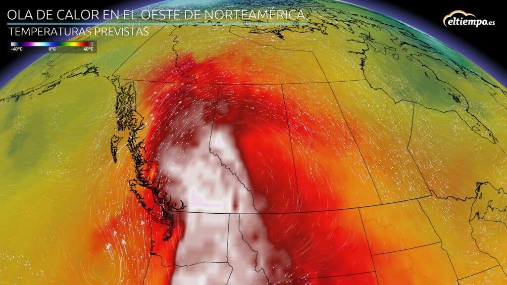 Máximas muy altas y tres días seguidos con récord de temperatura en Canadá