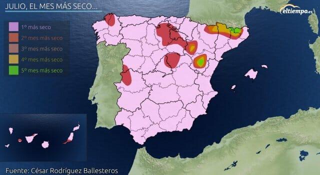 tormentas julio España