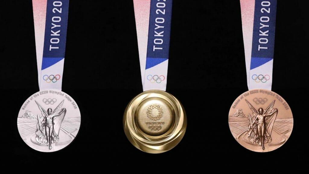 medallas olímpicas materiales reciclados