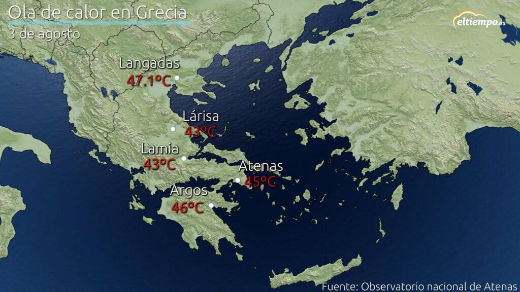 ola de calor Grecia