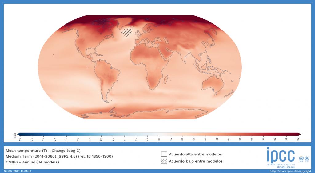 mediterráneo informe ipcc ssp2 45