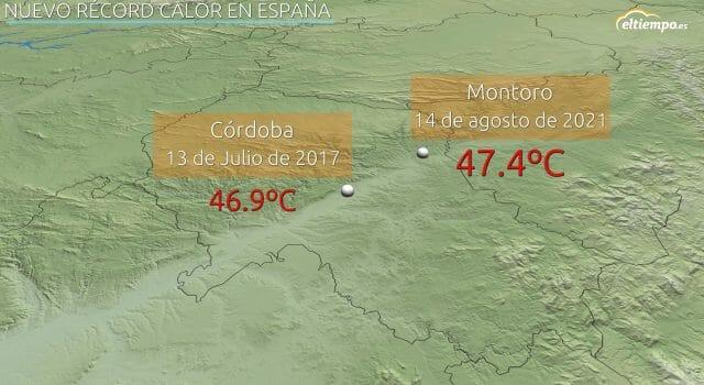 temperatura máxima absoluta de España