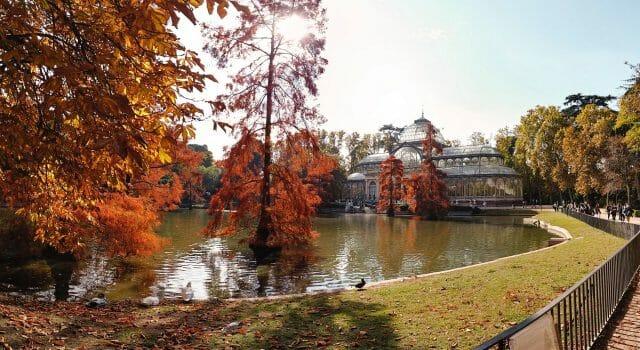 puente del pilar madrid tiempo otoño