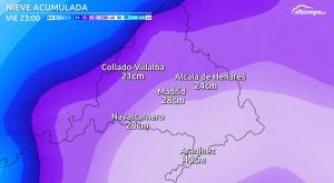 Nieve en Madrid: tiempos y cantidades de la «Gran Nevada»