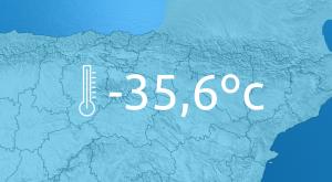 Récords históricos de temperaturas mínimas en España: -35.6ºC y -34.1ºC