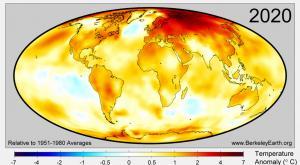 2020 es el año más cálido de la historia desde que hay registro