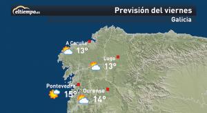 El tiempo en Galicia este fin de semana