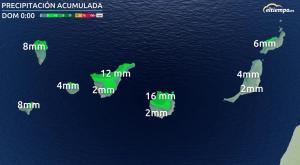 Una potente borrasca atlántica dejará mucha lluvia en Canarias