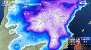 Las zonas donde más nevará en las próximas horas: evolución
