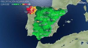 ¿Cuánta lluvia va a dejar la Borrasca Hortense?