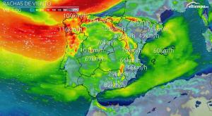 Avisos por rachas de viento fuerte en la mayor parte del país
