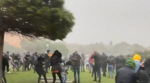 La furia de Hortensia: el viento huracanado causa estragos
