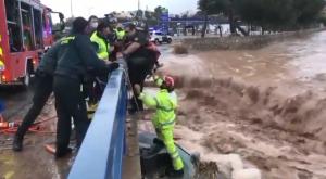 Inundaciones y lluvias torrenciales en Murcia y Alicante