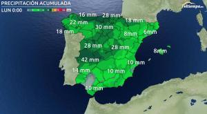 ¿Cuánto va a llover? Las cantidades de lluvia que se esperan por zonas