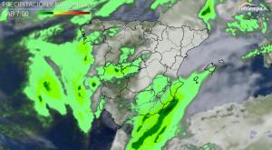 """El """"mapa"""" de las lluvias de este fin de semana"""