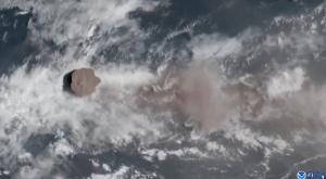 Desde el cielo: así se expandió la ceniza del volcán La Soufrière de San Vicente