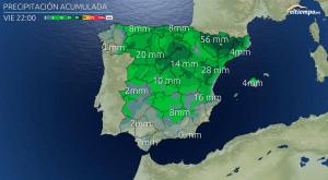 Todo esto será lo que llueva hasta el 1º de Mayo