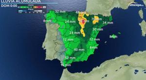 Las zonas donde más lluvia dejarán las tormentas estos días