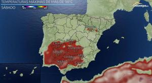 ¿Dónde hace más calor en España?