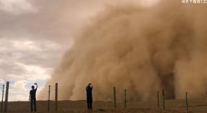Gran tormenta de arena cae sobre China