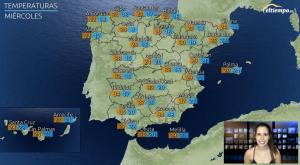 Semana con lluvias en el norte y ascenso térmico