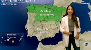 La previsión de lluvia y temperatura para septiembre 2021