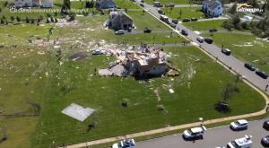 Este dron graba la magnitud de las inundaciones del huracán Ida