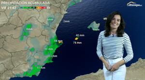 Lluvias intensas en el Mediterráneo este viernes