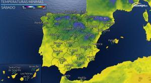 Siguen bajando las temperaturas en la península