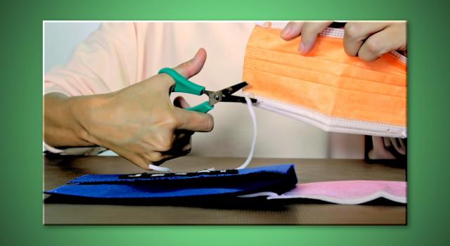 ¿Por qué debemos cortar las gomas de las mascarillas antes de tirarlas?